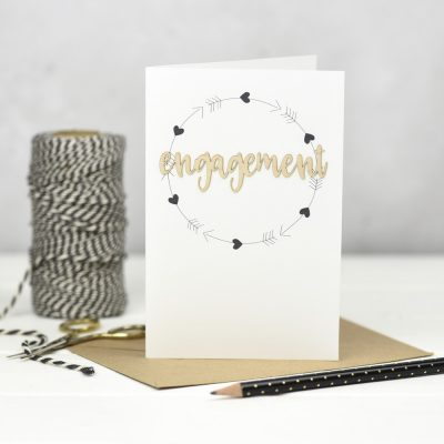 Engagement Wooden Words Card