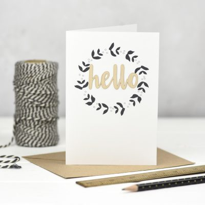 Hello Wooden Words Card