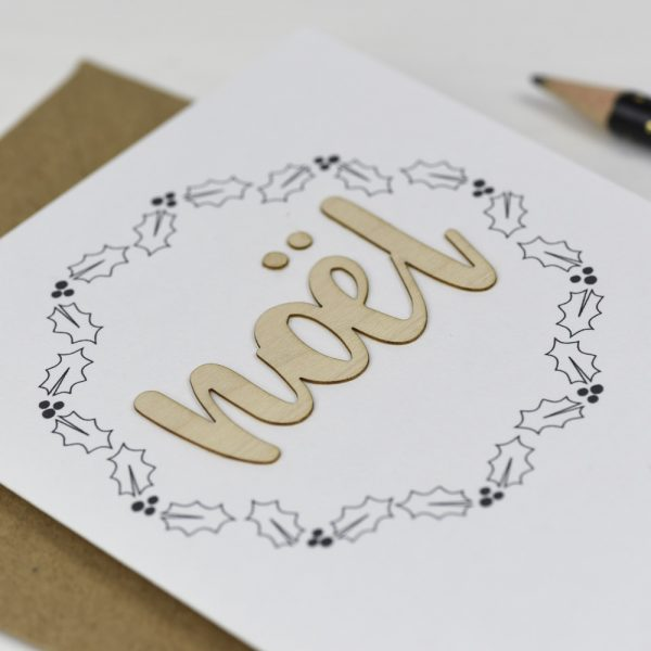 Noel Wooden Words Card