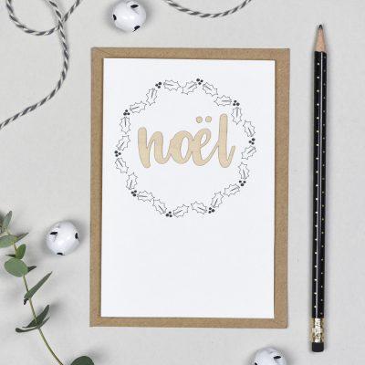Noel Wooden Words Card