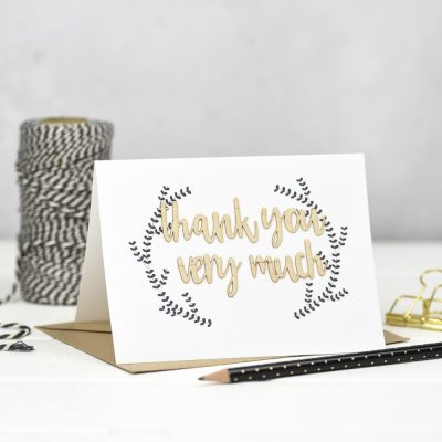 Thank You Very Much Wooden Words Card