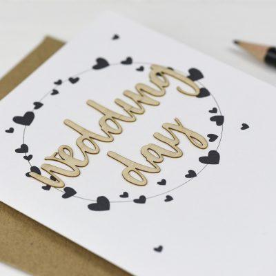 Wedding Day Wooden Words Card