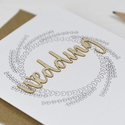 Wedding Wooden Words Card