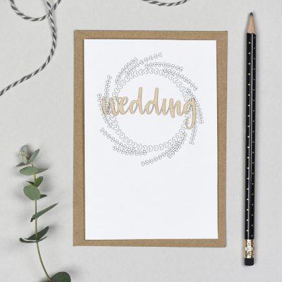 Wedding Wooden Words Cardy
