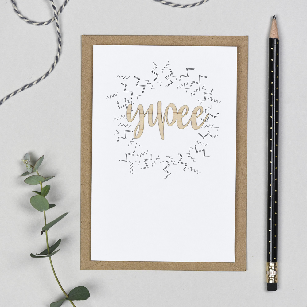 Yippee Wooden Words Card
