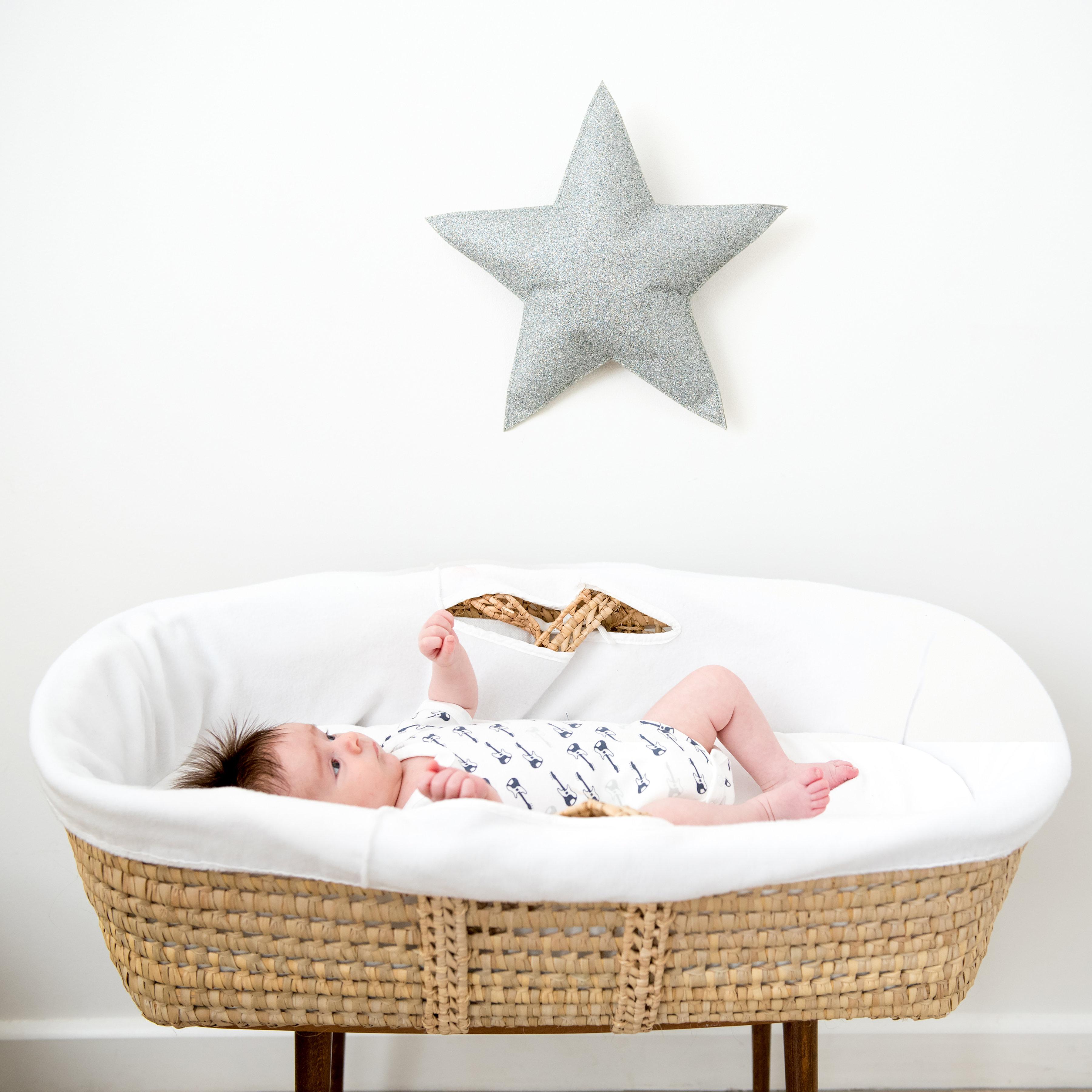 Silver Glitter Star Fabric Wall Decor Shop Indie