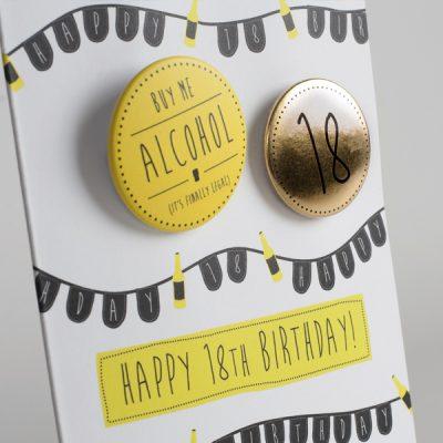 Happy 18th Birthday Badge Card