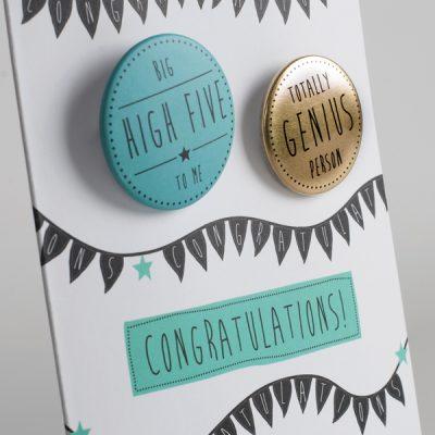 Big High Five Congratulations Badge Card