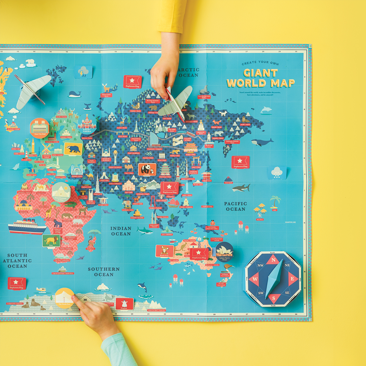 Create Your Own World Map Create Your Own Giant World Map   Shop Indie