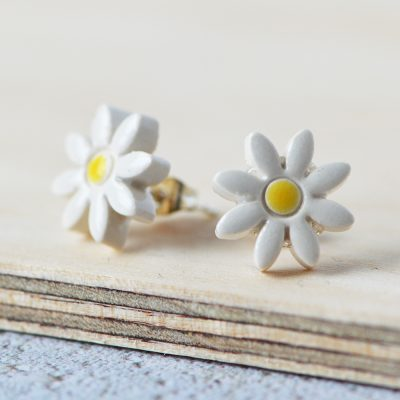 Daisy Ceramic Earrings