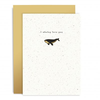 I Whaley Love You Enamel Pin Card