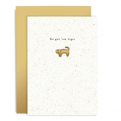 Go Get 'Em Tiger Enamel Pin Card