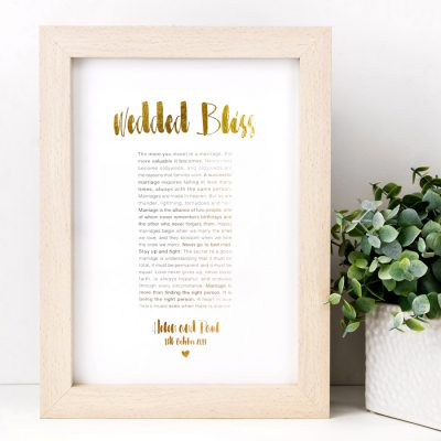 Personalised Wedded Bliss Print