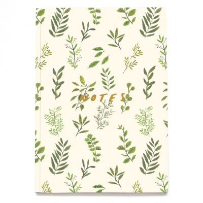 Green Foliage A5 Notebook