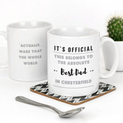The absolute best Dad in Chesterfield mug
