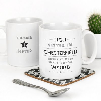 No 1 Sister in Chesterfield Mug