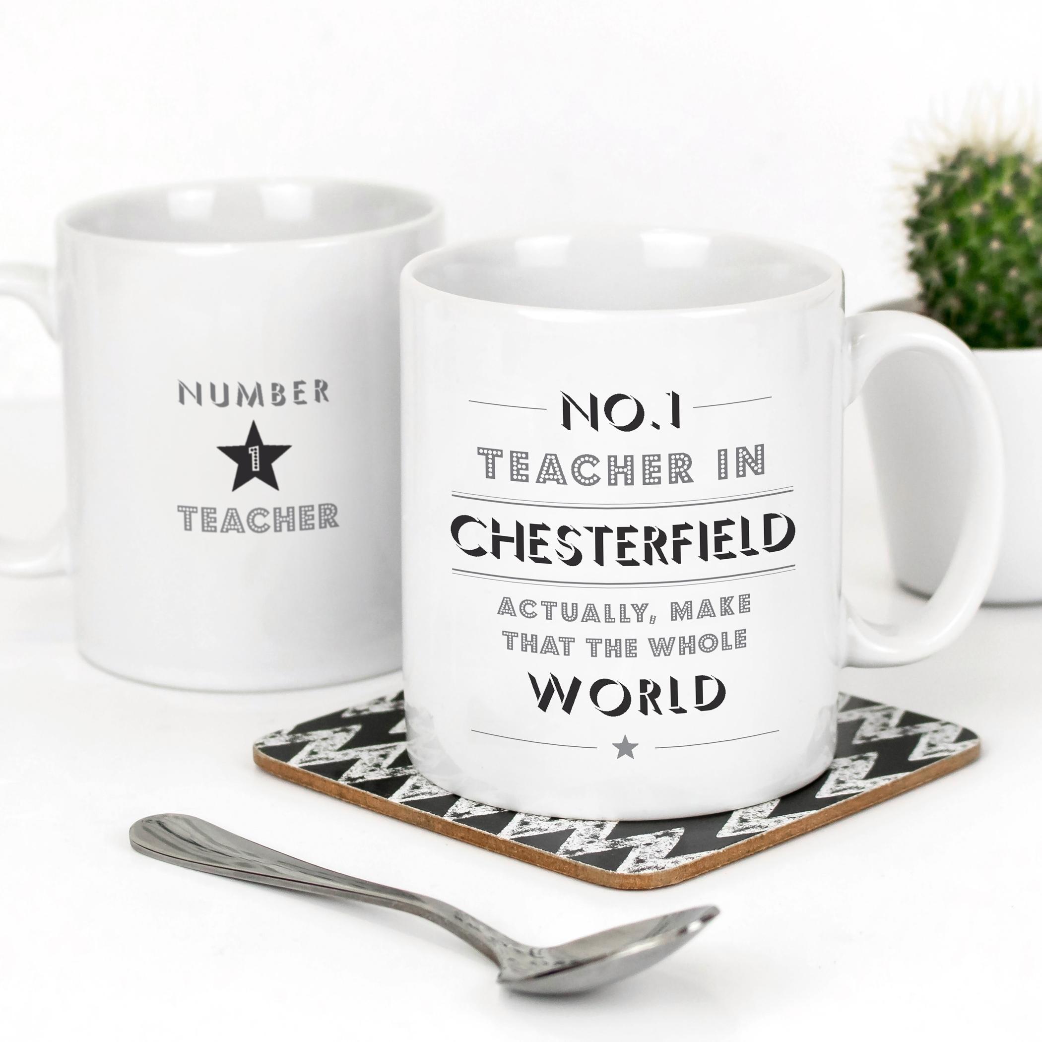 No 1 Teacher in Chesterfield Mug