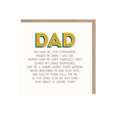 Funny Dad Card