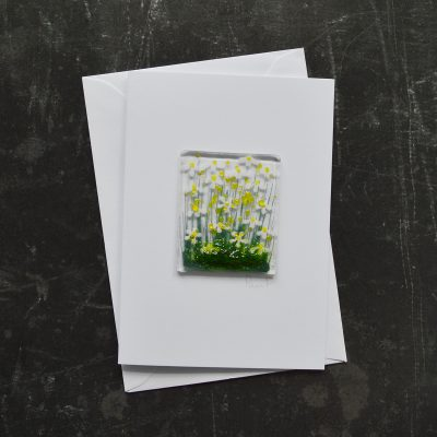 Daisy Fused Glass Card