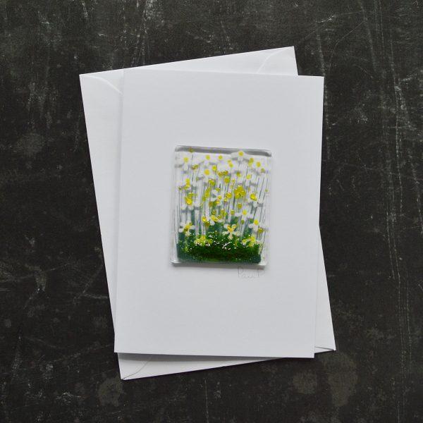 Daisy Fused Glass Card