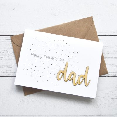 Dad Father's Day Wooden Words Card