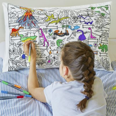 Colour & Wash Dinosaur Pillowcase