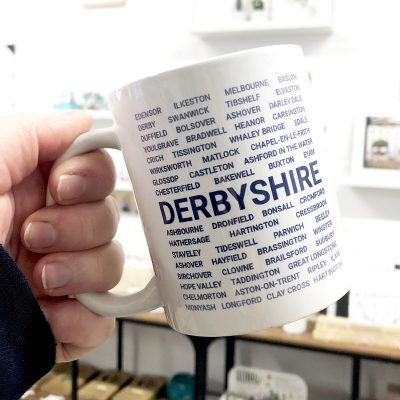 Blue Derbyshire Mug