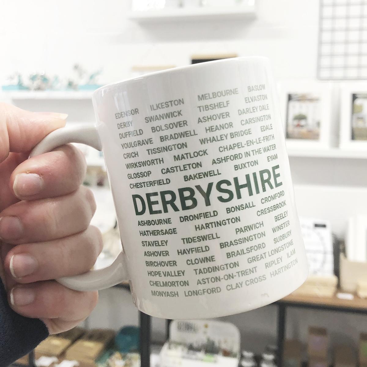Green Derbyshire Mug