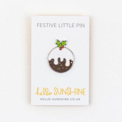 christmas pudding pin 1