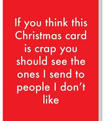 crap christmas card