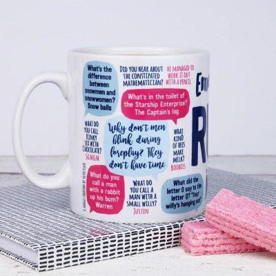 emergency rude jokes mug 2