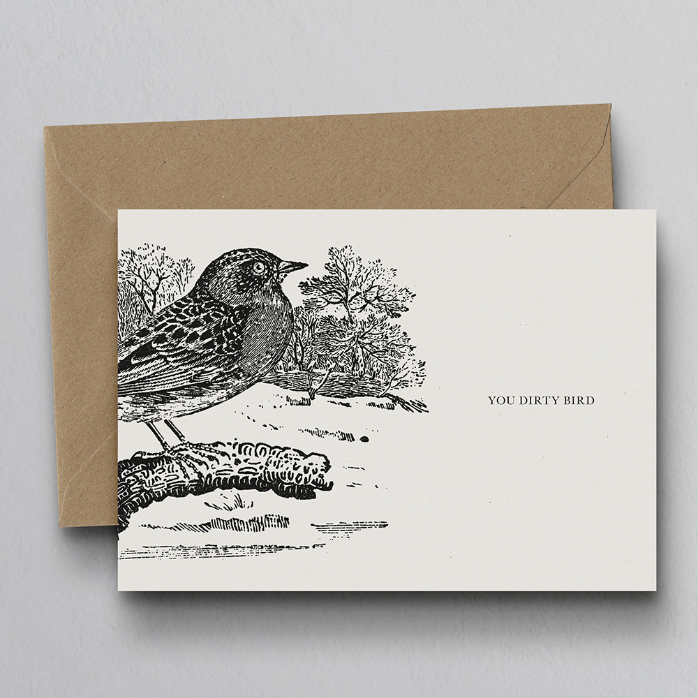 DTE0049 Animal Woodcut Personalised Greeting Cards by Dig The Ea