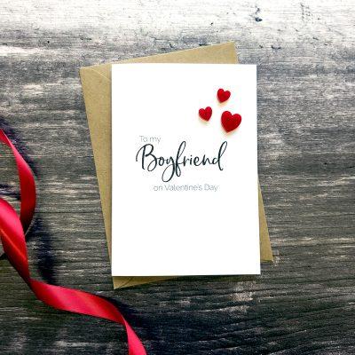 To my Boyfriend on Valentine's Day card