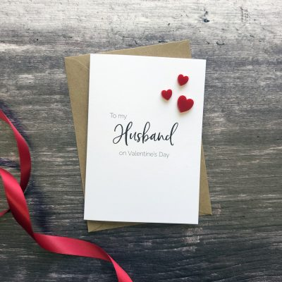 To my Husband on Valentine's Day Card