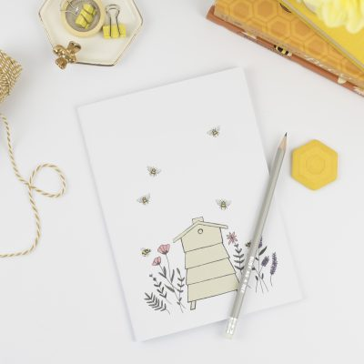 A5 Notebook floral beehive