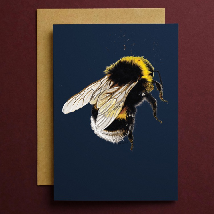 CARD_Red_Square_Bee_2