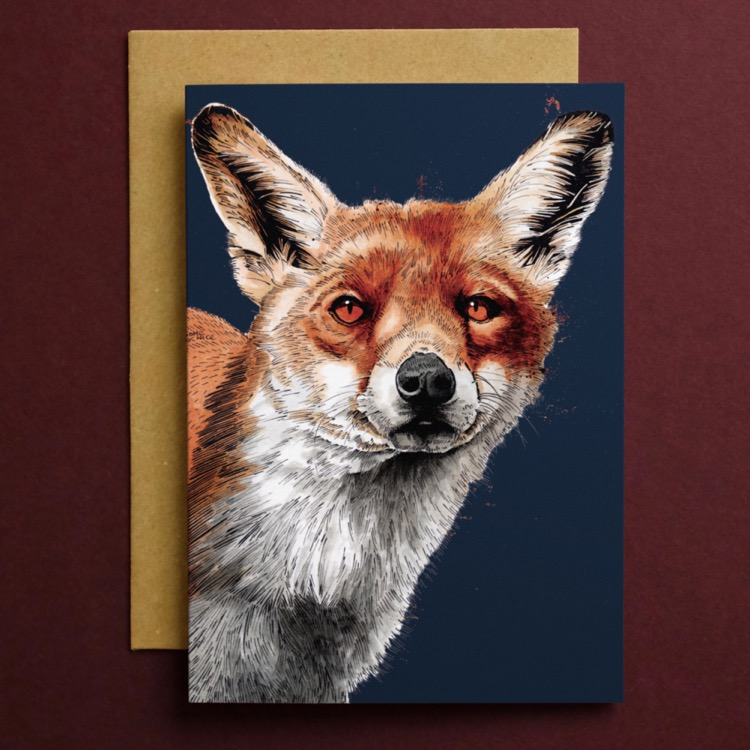 CARD_Red_Square_Fox_2