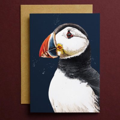 CARD_Red_Square_Puffin_2